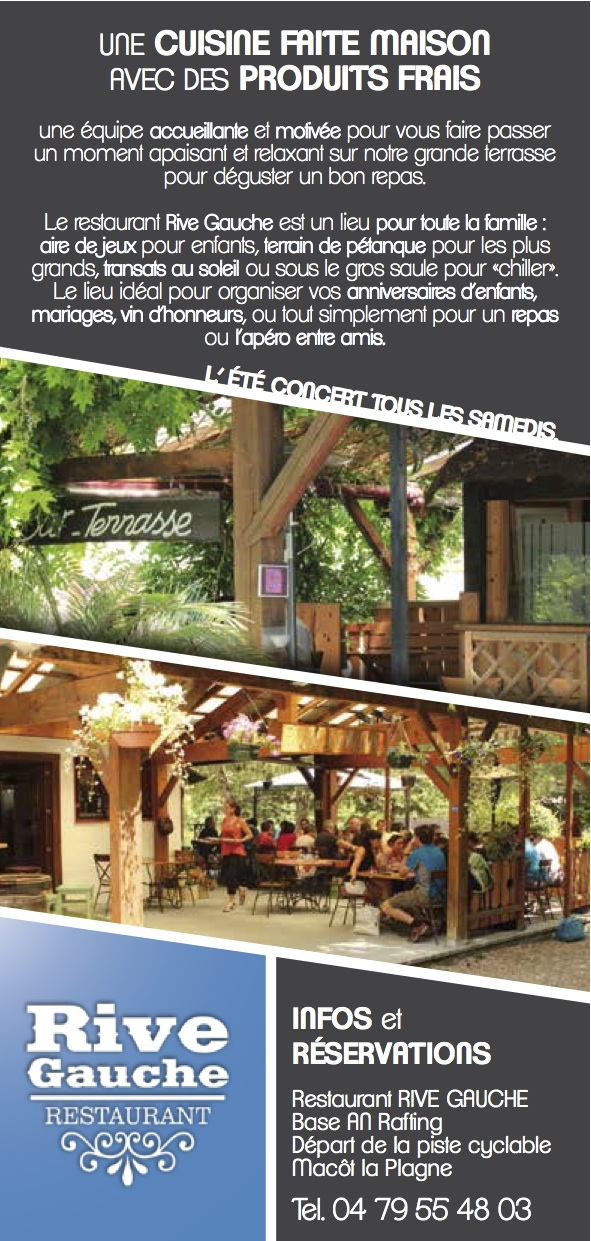 menu restaurant macot