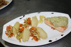 saumon à l'oseille menu restaurant macot